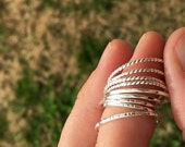 Sterling Stackers, Simple Stacker Rings, Sterling Stacker Rings, Simple Rings