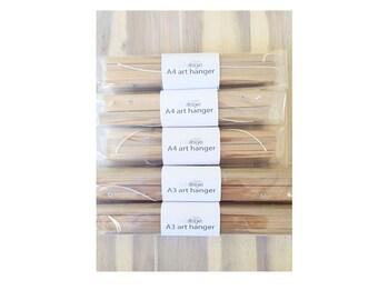wooden art hangers
