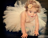 Ivory Tutu, Off White Tutu, Flower Girl Tutu, Baby Tutu, Cream Tutu, Tutu Skirt, Tulle Tutu, Toddler Tutu, Baby Girl Tutu, Photography Prop