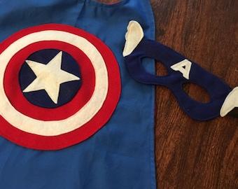 Captain America Cape and Mask Set