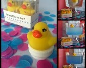 Waddle it Be? Gender Reveal Rubber Duck Fizz: one pink, one blue