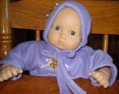 Orchid  purple Snuggle Sleeper and Hat for 15 inch   Baby Doll