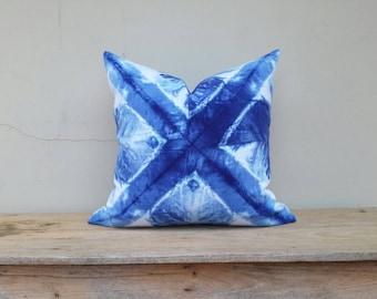 """Indigo pillow cover, pillow cover,tie dye pillow cover 20"""" x 20"""""""