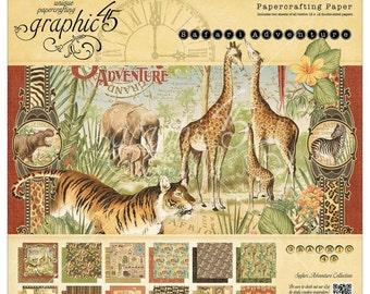 Graphic 45 12 x12 Paper Pad Safari