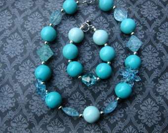 Snowflake Children's Necklace and bracelet