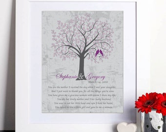 Parents Wedding Gift, Parents Thank you gift, Mother of Bride Gift, Wedding Art Print, Bride Parents Gift, Personalized wedding Gift 097