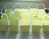 16 Yellow gift boxes - yellow party/baby shower favours - yellow table decor - party favour boxes - yellow craft boxes - party supplies