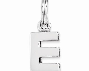 Sterling Silver E Charm