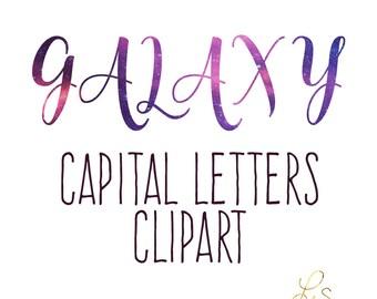 LS Galaxy Capital Alphabet Clipart