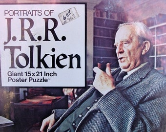 1977 UNOPENED PORTRAITS Of J.R.R. Tolkien Giant 15x21 Inch Poster Puzzle No BP 134 Over 500 Pieces Author The Hobbit & Lord Of The Rings