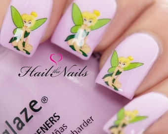 Nails Nail Art Water Transfers Decals Wraps Tinkerbell Fairy Princess Y826