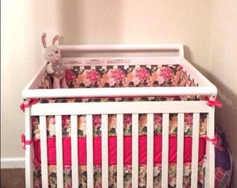 Custom Regular Mini Crib 4 Piece Bedding Set