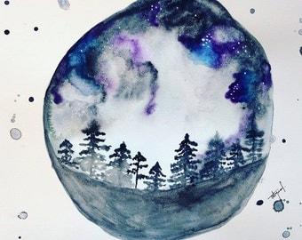 Dreaming Watercolor ORIGINAL or REPRODUCTION PRINT