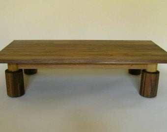 Handcrafted walnut and oak low table