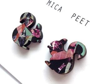 Squirrel Earrings - Quirky Jewellery - Cute Studs - Animal Earrings - Quirky Earrings - Animals Studs - Fun Earrings - Woodland Earrings