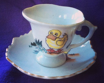 Vintage Child's Teacup and Saucer