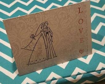 "Wedding card ""love"""