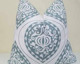 Robert Allen - Dwell Studio Ogee in Aquamarine decorative pillow cover- 18 x 18, 20 x 20, 22 x 22, 24 x 24, 26 x 26
