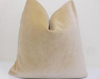 Buttercream Velvet  Pillow Cover - Decorative  throw pillow- Gold velvet Pillow - Toss Pillow- 20 x 20