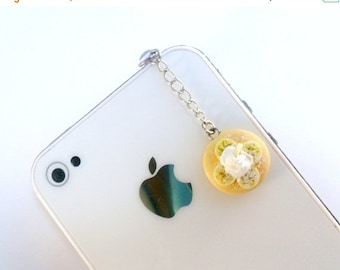 ON SALE Banana Pancake Dust Plug Charm, For iPhone or iPod, Kitsch Tiny pancakes, Phone Charm, Cute And Kawaii :D