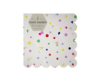 Toot Sweet Large Paper Napkins by Meri Meri, Party Supplies, Tableware