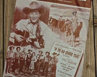 Vintage Roy Rogers Music Sheet 1947