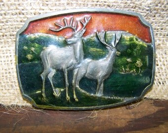 Deer Belt Buckle Brass Belt Buckle