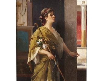 Luigi Crosio Antique Painting of Classical Figure, circa 1877, 411RLX15P