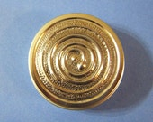 Trinket Box - Little Round Tin Container with Snake Embossing on Lid