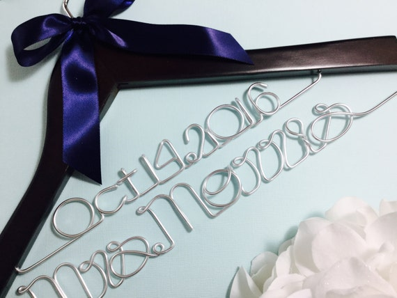 Personalised Wedding Gifts Quick Delivery : Fast shipping & turn over time. Personalized Wedding Hanger, Bride ...