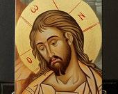 Jesus Christ Hand-Painted(Written) byzantine icon