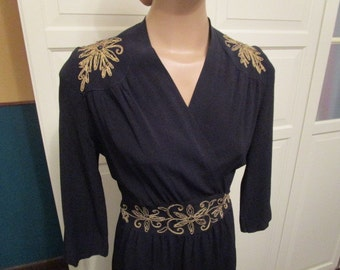 Beautiful medium M size 1940s  gown dress awesome VLV  Rhythm Riot Lindy Hop vtg