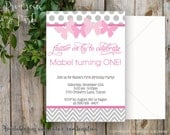 Butterfly Invitation Baby Shower or Birthday // Printable PDF // Personalized Invitations
