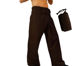 Thai Fisherman Pants , Yoga Pants Plain Color , Men / Women