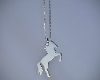 Sterling silver Mustang pendant