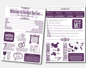 Jewish Infographic Wedding Program