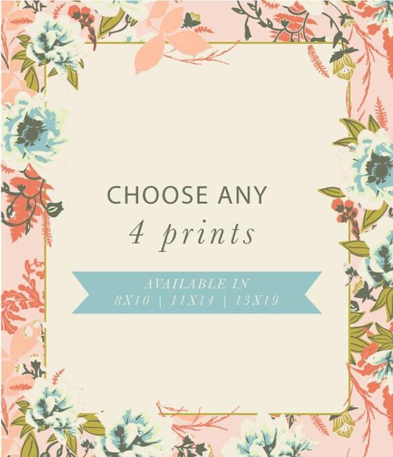 Set of any 4 Art Prints