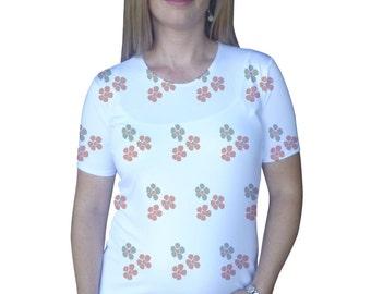 Cute summer flowers  Maternity Shirt - , Pregnancy clothes, Short sleeve, summer maternity