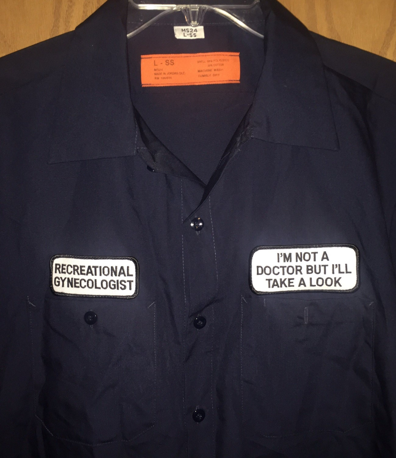 Vintage guys work shirt dirty mechanic shirt hwy 420 size for Mechanic shirts custom name patch