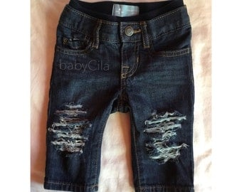 Distressed Baby Jeans