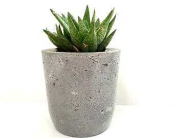 Concrete Planter - Eco Friendly Home Decor - Organic Indoor Outdoor Pot
