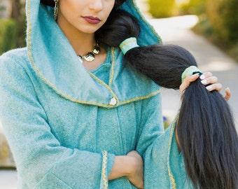 Princess Jasmine Cape , Cloak, lined Winter Cape , Princess cape