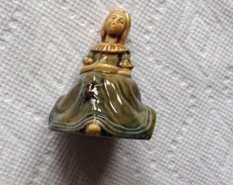 Wade Figurine Little Miss Muffet Moffet England Spider Bowl 2.5 inches