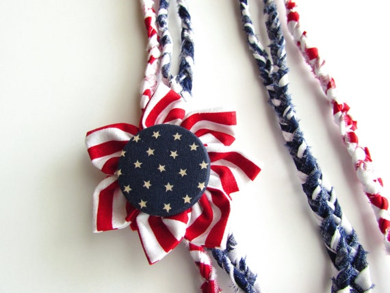 patriotic jewelry july 4th accessories white and blue