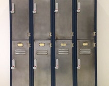 Two tier vintage industrial style lockers