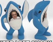 Left Shark with your face desk figurine