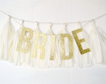 Bride Glitter Tassel Banner - One Stylish Party