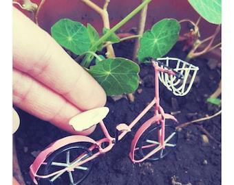 Fairy scale pink bike