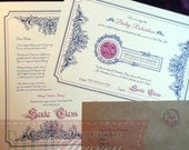 Personalised Traditional Christmas Letter From Santa & Nice List Certificate