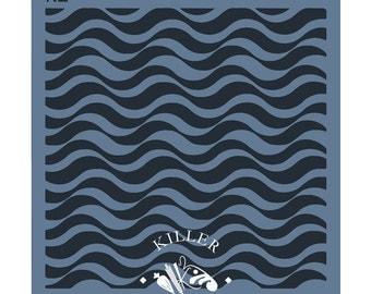 """Ocean Waves 5.5"""" x 5.5"""" Stencil"""